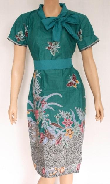 Dress Batik Kombinasi Modern