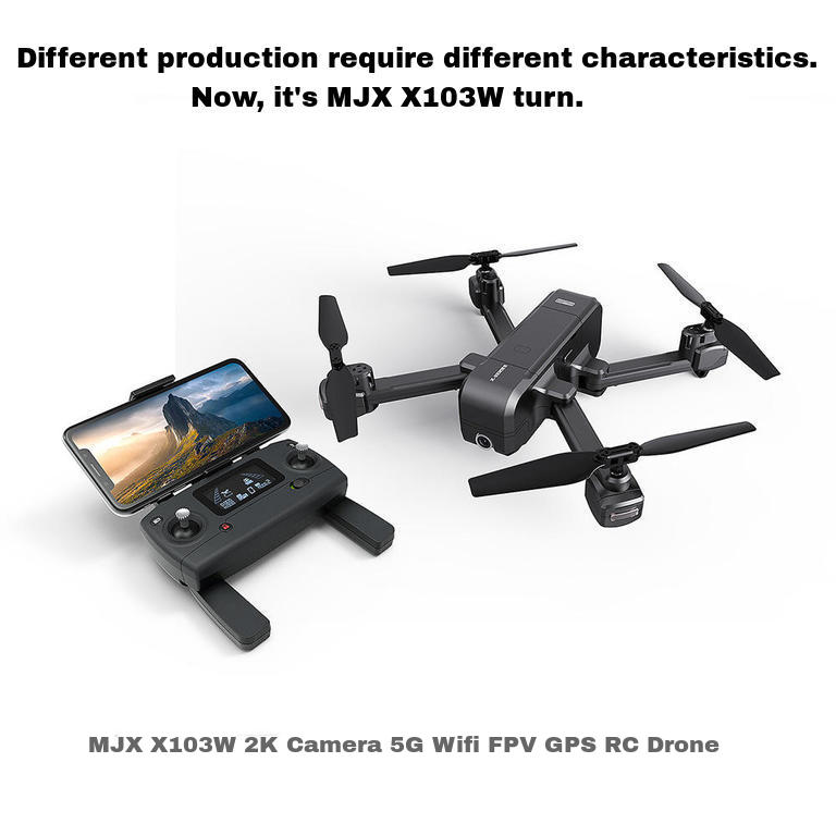 MJX X103W 2K Camera 5G Wifi FPV GPS RC Drone - SURF Slab
