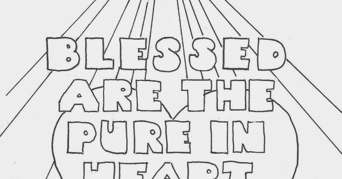 Coloring Pages for Kids by Mr. Adron: Blessed Are The Pure