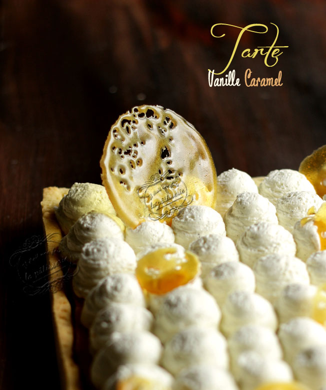 tarte vanille caramel