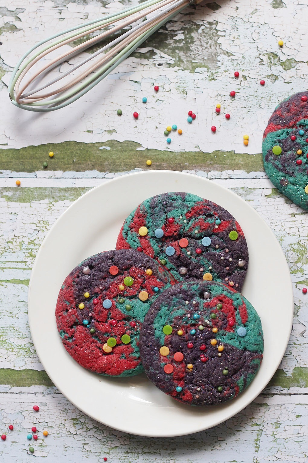 Vegan Rainbow Unicorn Cookies