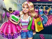 Work and go shopping with Barbie! It's time for a change of wardrobe, but how is she going to buy all the glamorous outfits if she doesn't have any money? Help Barbie work and collect the dollar bills, then go into the store and purchase all your favorite clothes, shoes and accessories. If you don't have enough cash to buy everything you want, go back home and work some more. Barbie will be thrilled with her new outfits!