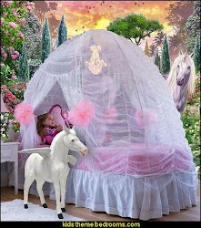 unicorn decor bedrooms theme fantasy bedding murals bedroom unicorns wall decorating bed beds princess furniture fairy tent decals fairytale rainbows