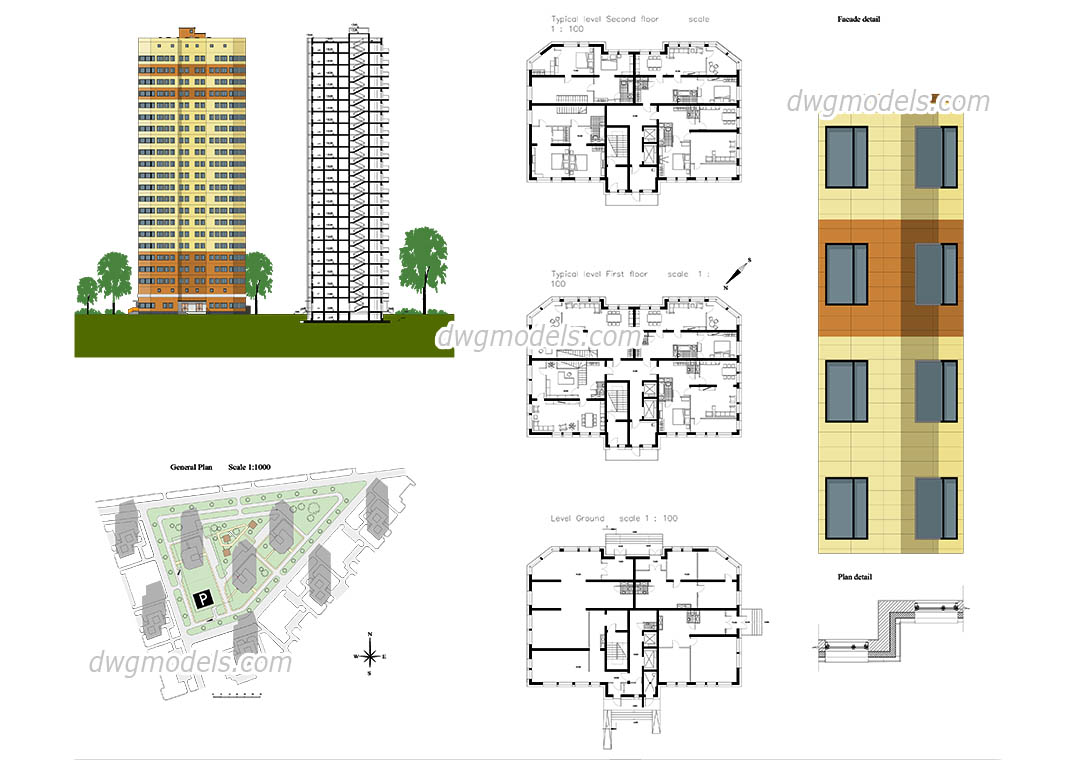 Apartment Plans Free Dwg File Bibliotheque Architecture