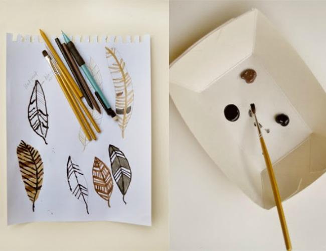 Decoración Fácil: Plumas inspiración para decorar 6 ideas handmade