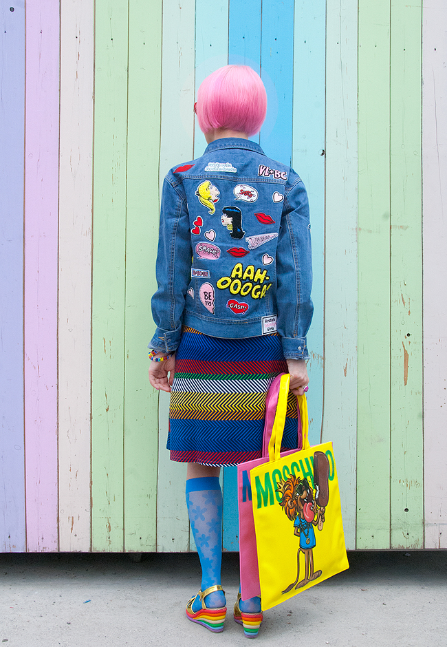 Betty and Veronica, patches, denim jacket