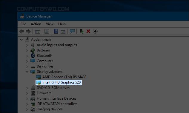 تحميل تعريف كرت الشاشة intel ويندوز 10