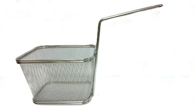 double serving, fryer basket, french fries basket, mesh basket