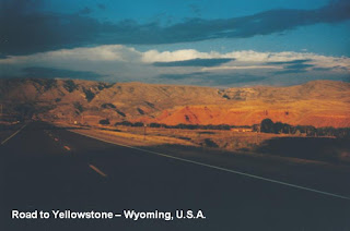 wyoming usa road