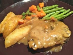 Chicken Steak With Mushroom Sauce