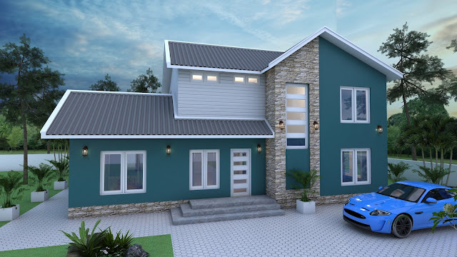 SketchUp Home Design Plan Size 14m4 X 10m