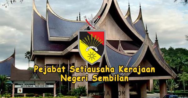 Permohonan Online Jawatan di Pejabat Setiausaha Kerajaan Negeri Sembilan - 13 Mei 2018