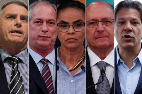 Pesquisa Datafolha: Bolsonaro, 26%; Ciro, 13%; Haddad, 13%; Alckmin, 9%; Marina, 8%