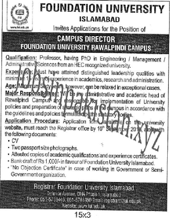 https://www.jobsinpakistan.xyz/2018/08/foundation-university-islamabad-jobs-2018.html