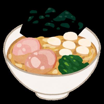 家系ラーメンのイラスト(うずらの卵)
