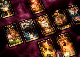 Picture of tarot cards.