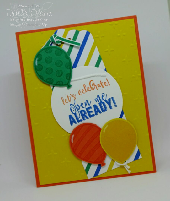 punched or die cut images and shapes layered on your cards add interest and dimension shared by Darla Olson at inkheaven