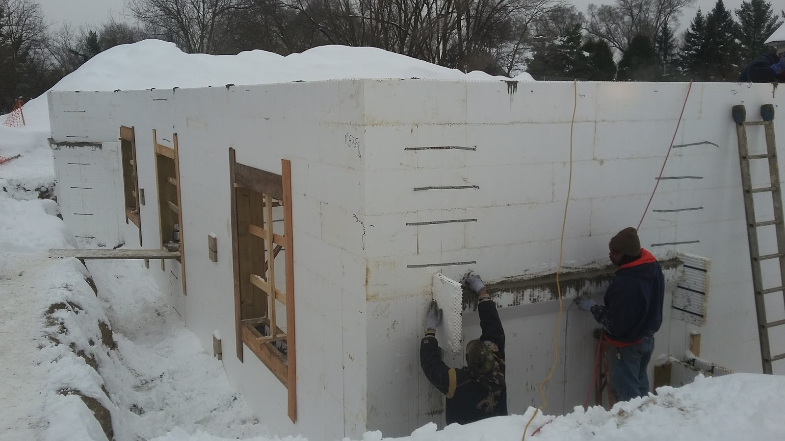 Energy Efficient Building Network Concrete Placement In