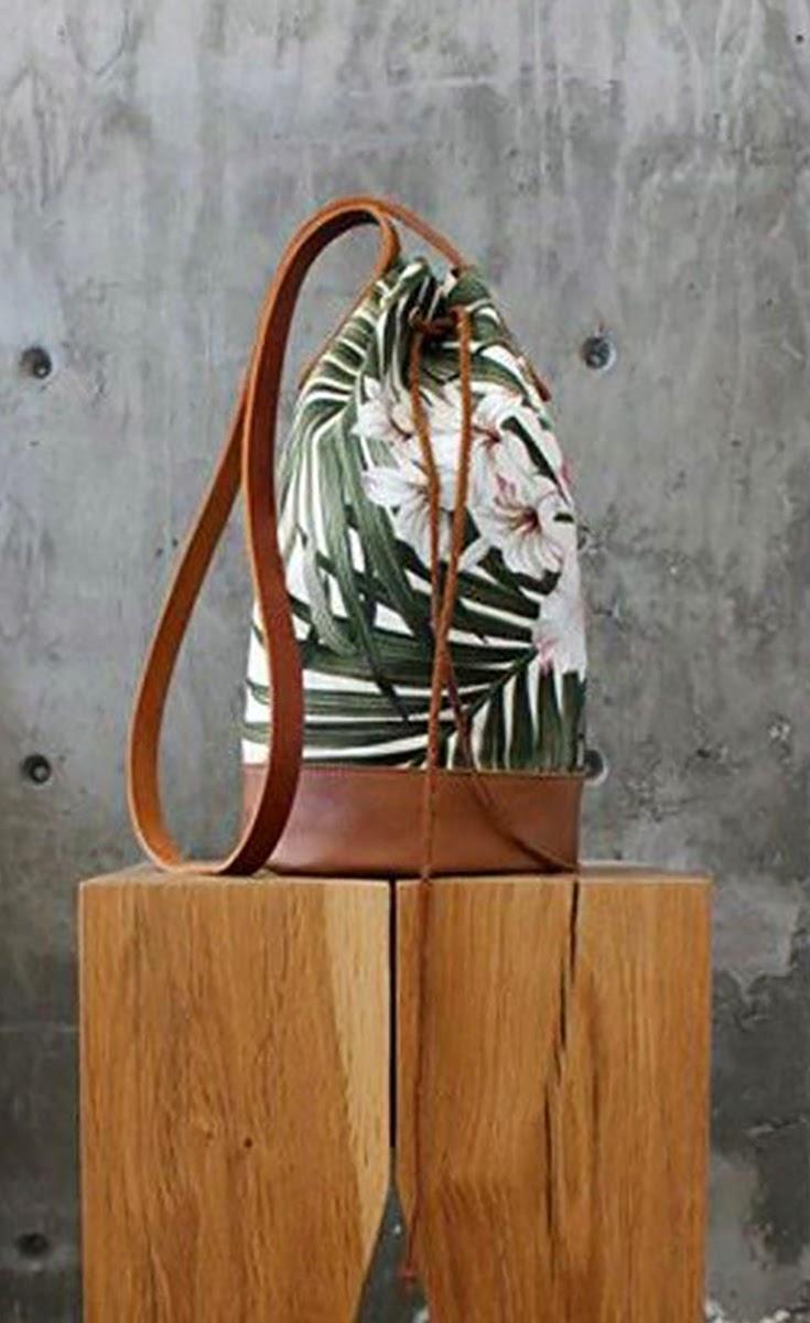 Palms Mini Bucket Bag - She Wanders She Finds