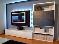 Living Room With TV Wallpaper Ideas