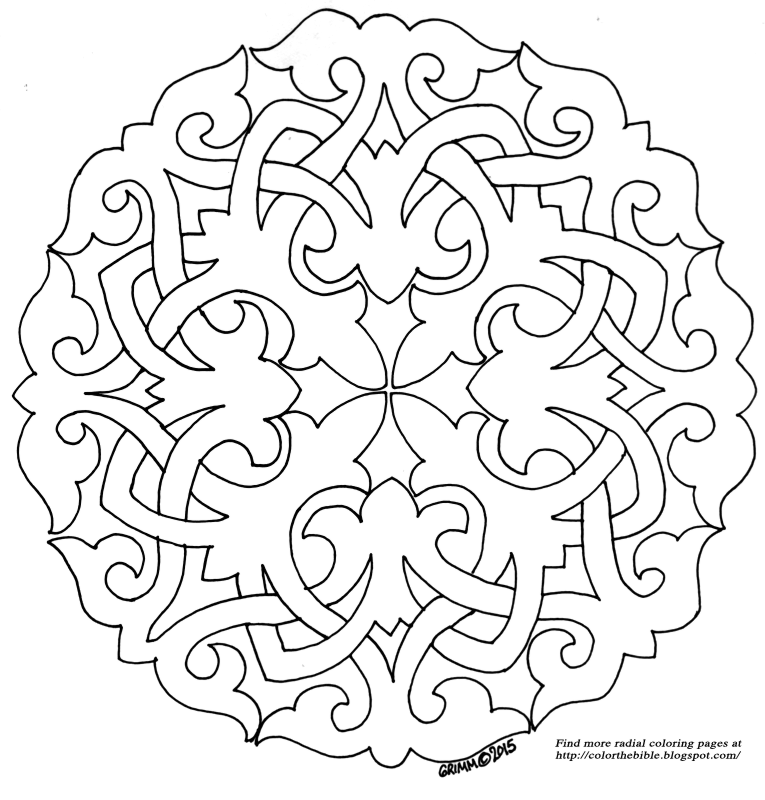 Radial Symmetry Coloring Page Coloring Pages