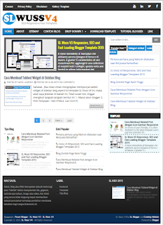 SL Wuss V4 SEO, Responsive, Super Fast Load Blogger Template