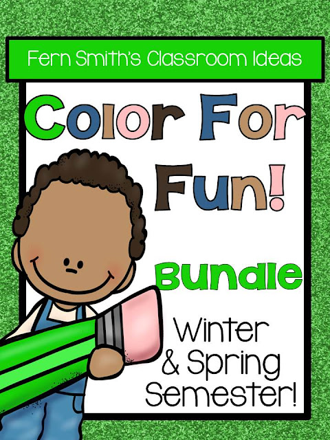 Fern Smith's Classroom Ideas Color for Fun Second Semester Growing Bundle for January to June Coloring Pages at TeacherspayTeachers, TpT.