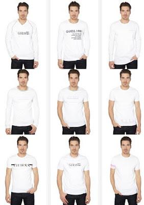 camisetas blancas hombre