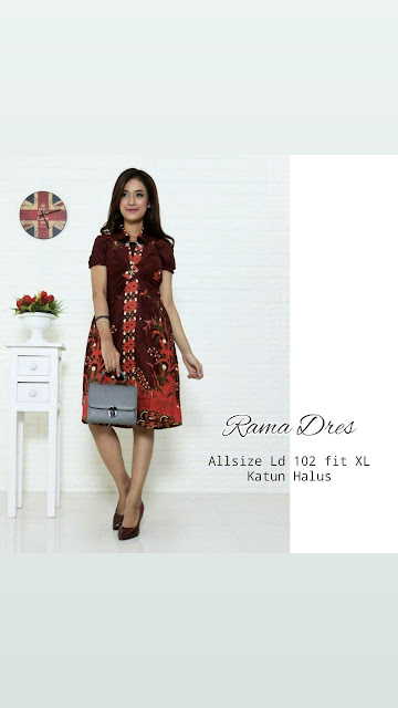 Dress-Batik-Rama-Maroon