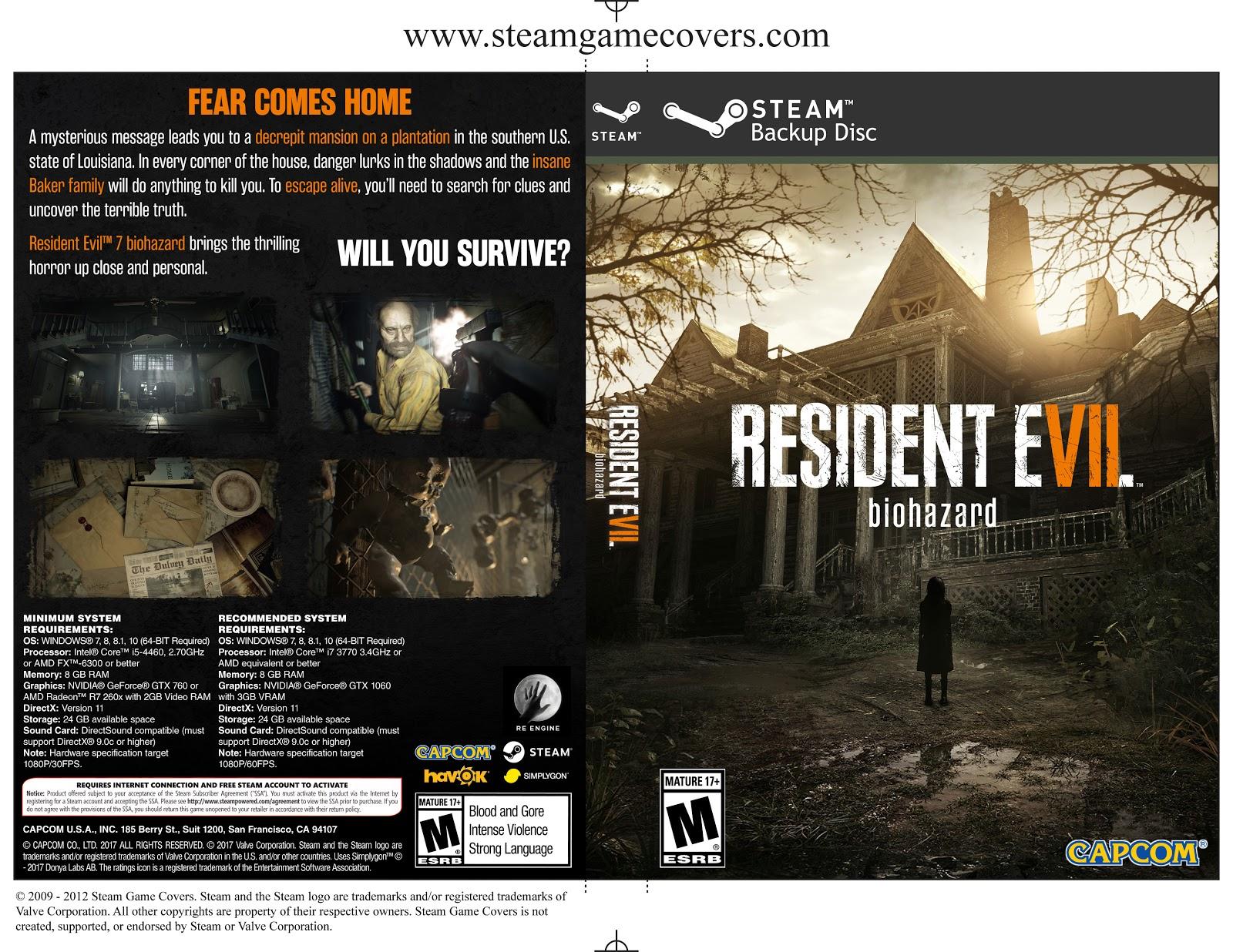 Capa Resident Evil 7 PC Steam