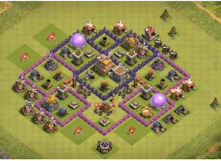 Susunan Base Clash of Clans Town Hall 7 Trophy
