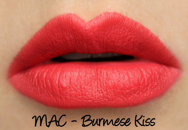 MAC Burmese Kiss lipstick swatches & review