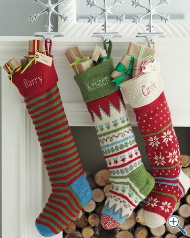 Alipyper Hand Knit Christmas Stockings