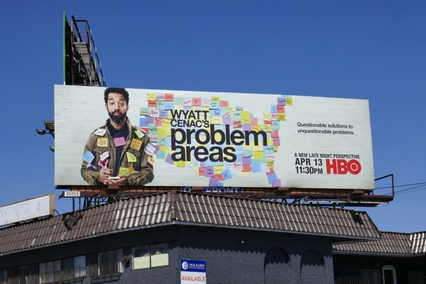 Wyatt Cenacs Problem Areas series premiere billboard