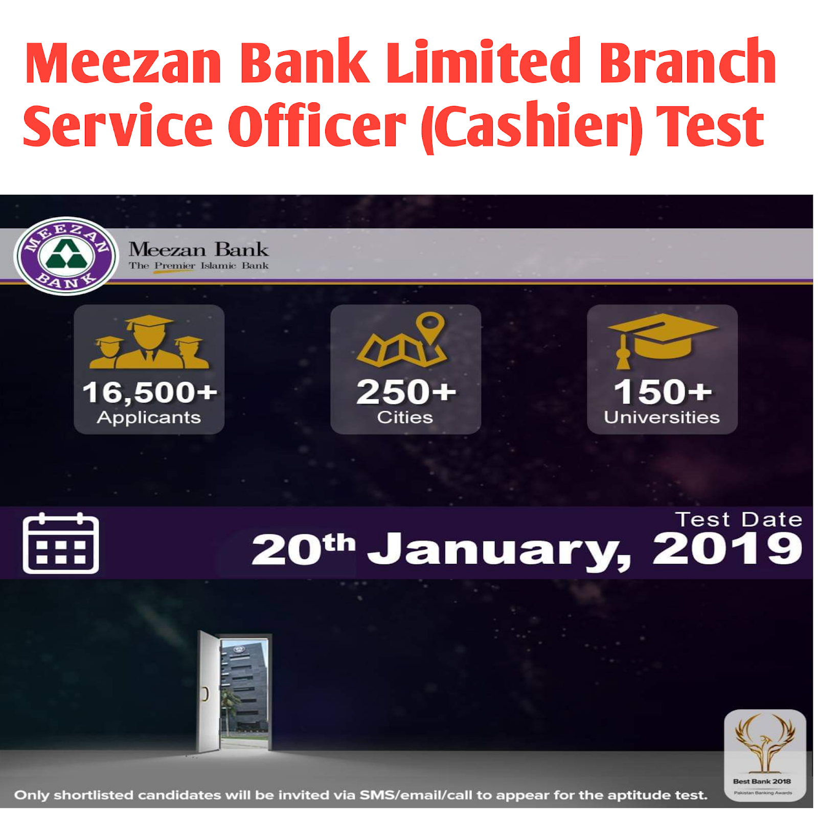 General Knowledge: Meezan Bank Limited Branch Service Officer