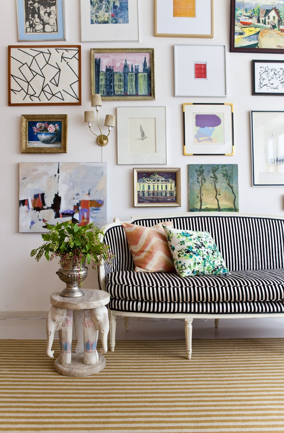Eye For Design Decorating With Salon Walls French Art