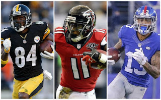 Fantasy Football WR Draft Antonio Brown Odell Beckham Julio Jones