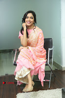 Actress Ritu Varma Pos in Beautiful Pink Anarkali Dress at at Keshava Movie Interview .COM 0247.JPG