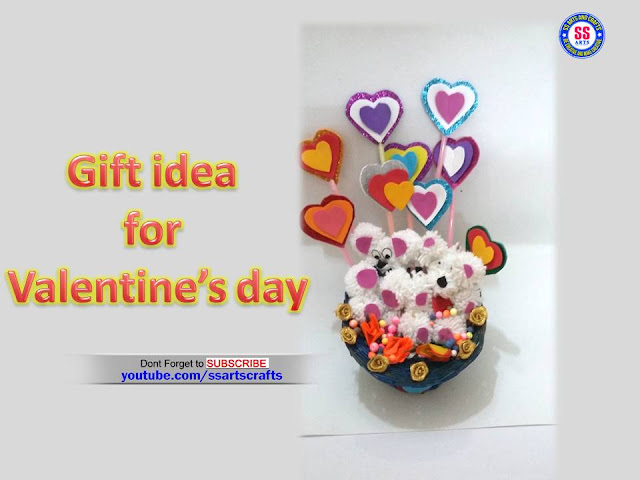 Here is valentine's day gift craft ideas,foam sheet crafts,woolen teddy bear,how to make gifts at home for valentine's day,pop up cards making at home,woolen crafts for home decoration,how to make teddy bear using with wool,how to make Valentine's day gifts at home