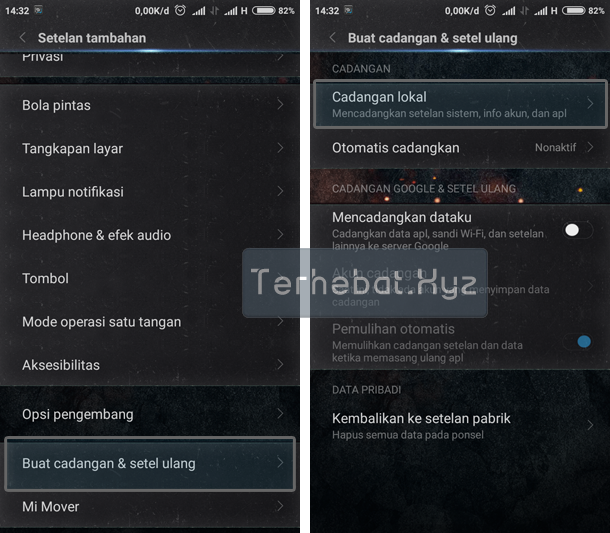 Backup Data Game dan Aplikasi Android di Xiaomi