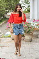 Rhea Chakraborty in Red Crop Top and Denim Shorts Spicy Pics ~  Exclusive 262.JPG