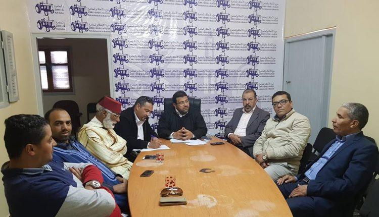 """إقليم سيدي إفني.. أبودرار يعقد لقاء تواصليا مع القطاعات النقابية التابعة لـ """"ODT"""""""