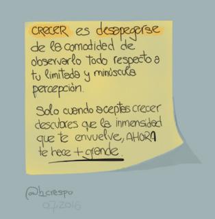 Aprendizaje @b_crespo No.58 ... Sobre CRECER: