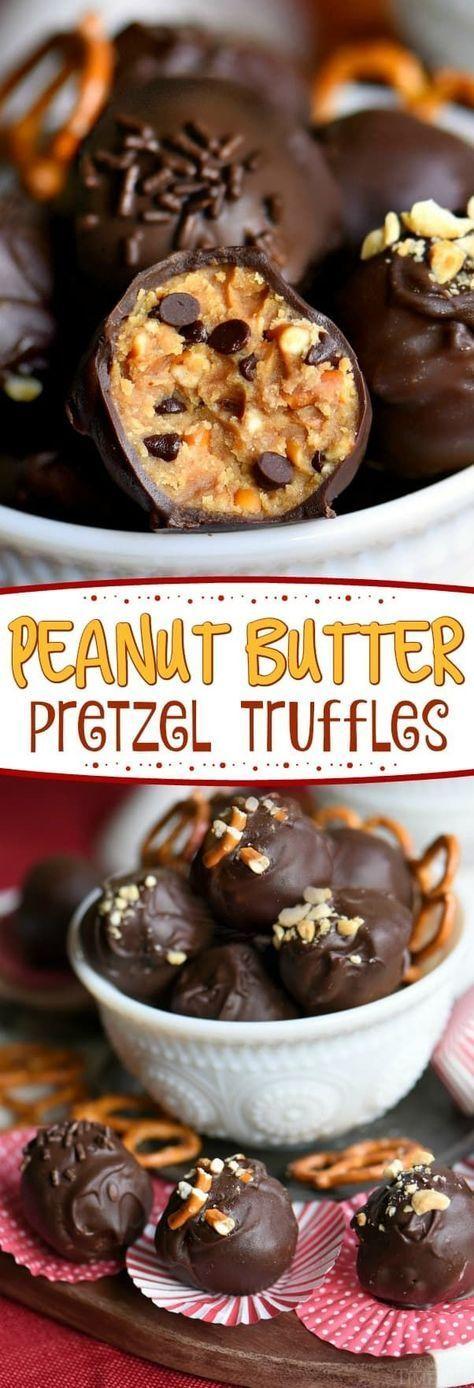 Peanut Butter Pretzel Truffles