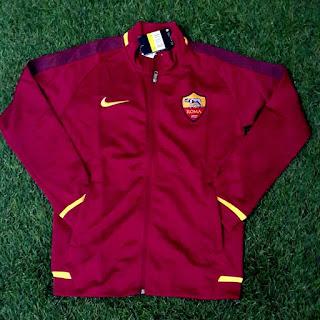 gamabr desain bocoran terbaru jaket as roma di Jaket As Roma home terbaru warna merah musim 2015/2016 di enkosa sport toko online jaket bola terpercaya