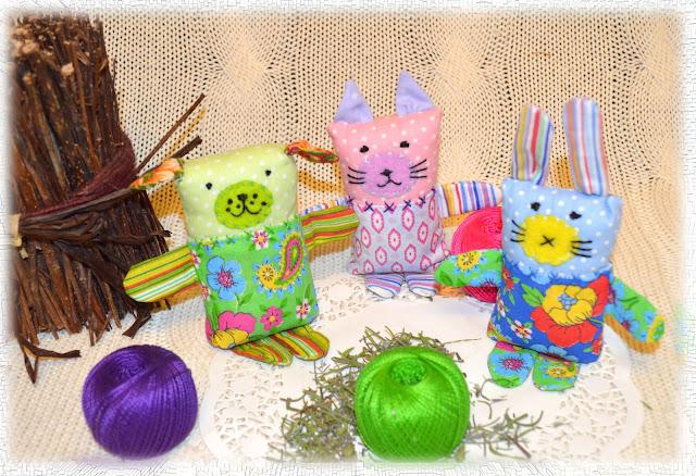 игрушки из остатков ткани