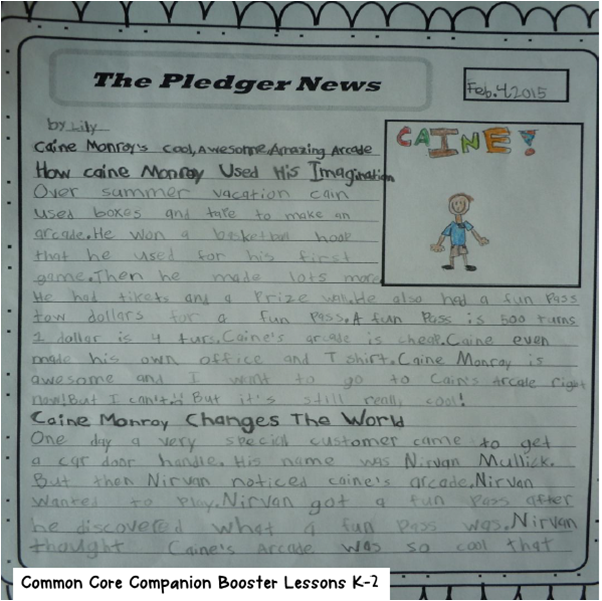 A second grader's newspaper article that was dispersed to the whole student body!  The best literacy instruction is grounded in real reasons to read and write.  This blog post has some ideas and resources for engaging students with purposeful, integrated literacy!
