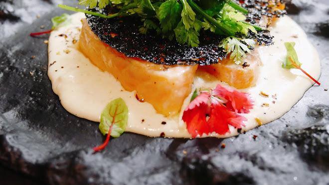 Saumon confit à l'huile d'olive