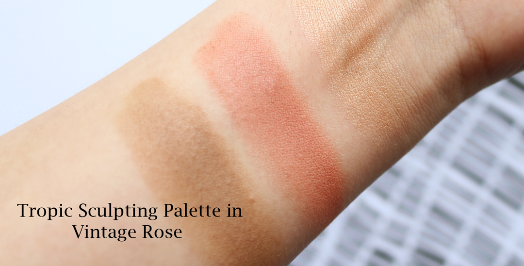 Tropic Sculpting Palette in Vintage Rose review swatches