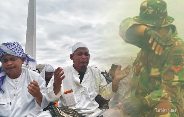 TNI menangis